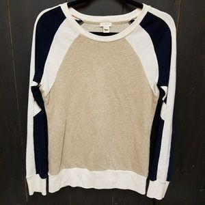 J. Crew Factory Colorblock Sweatshirt, sz XS